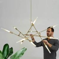 modern electroplating wrought iron branch pendant lights nordic living room bedroom kitchen hanging light restaurant chandelier