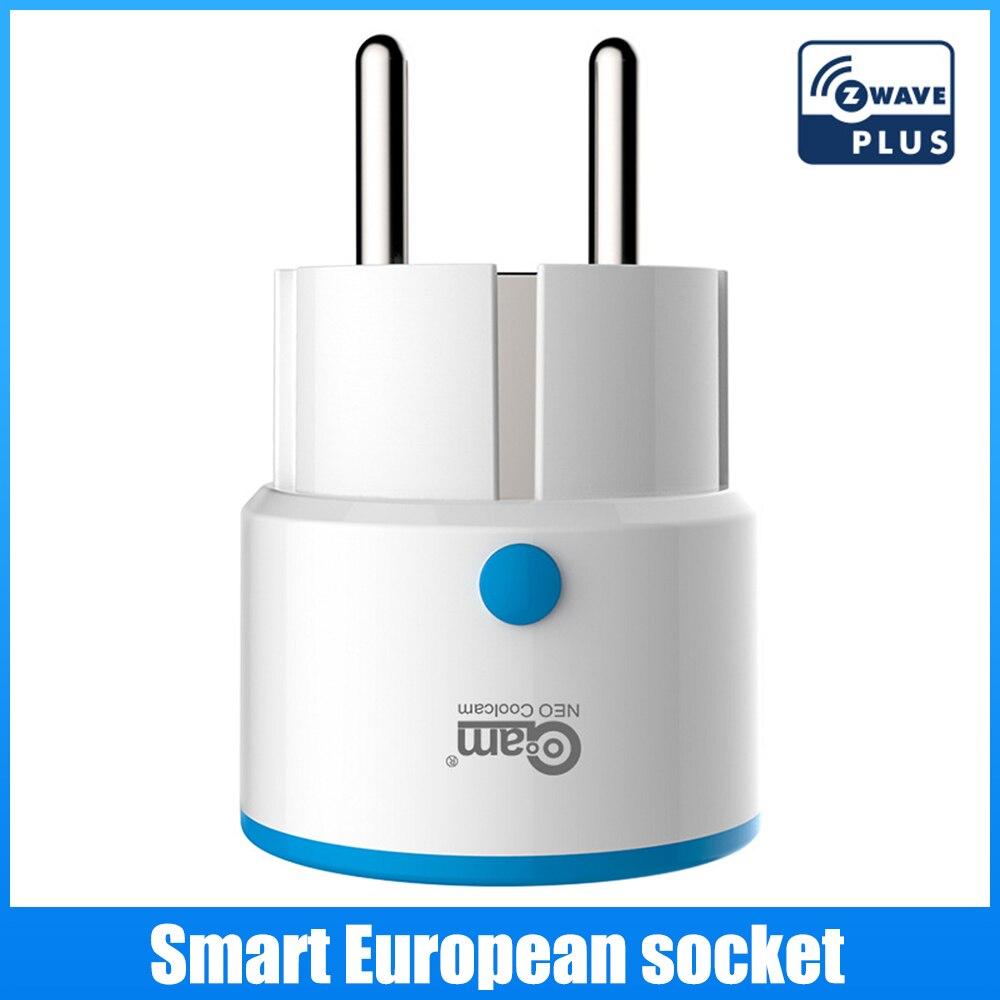 مقبس قابس طاقة ذكي من NEO Z-Wave متوافق مع سلسلة 300 ونظام محول منزلي من سلسلة 500
