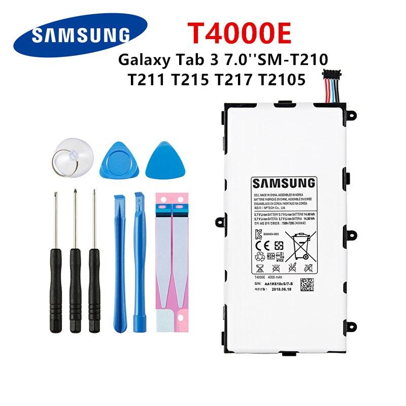 Планшет SAMSUNG Orginal T4000E аккумулятор 4000 мАч для Samsung Galaxy Tab 3 7,0 ''T211 T210 T215 T217A T210R T2105 P3210 P3200 + Инструменты