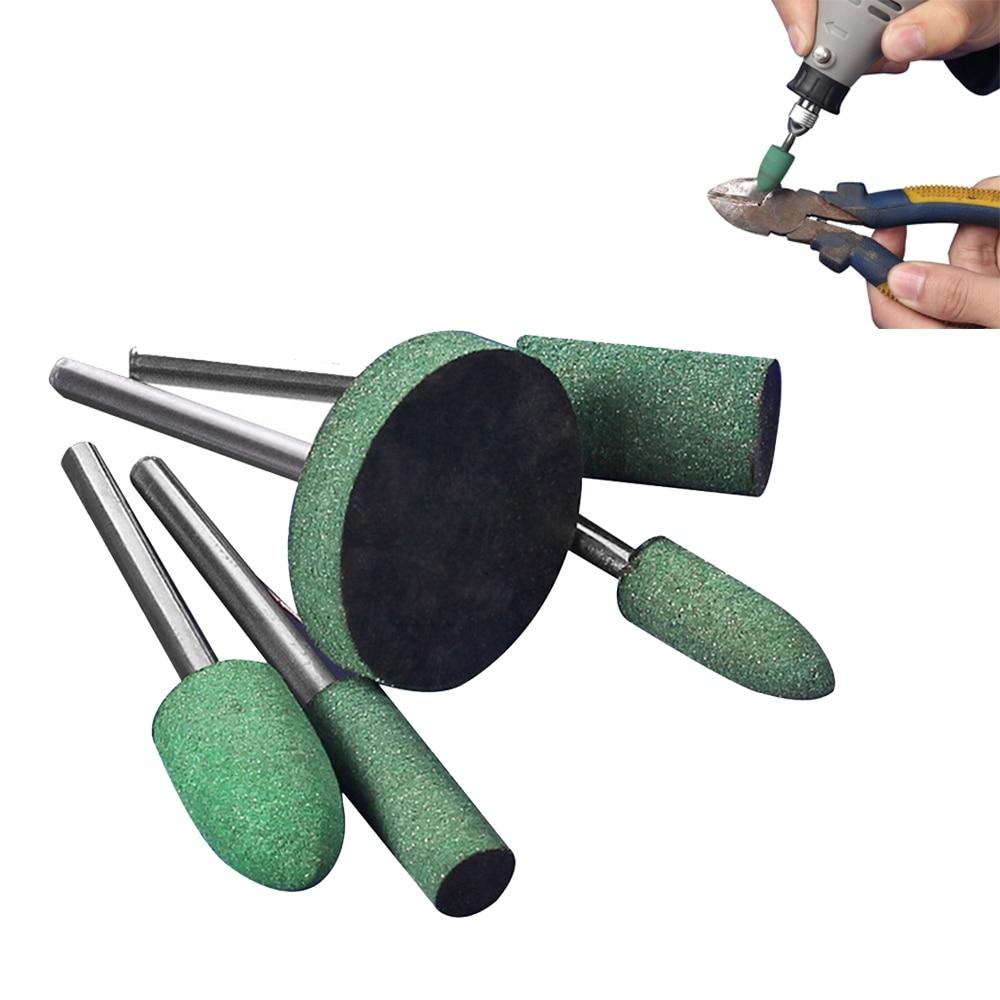 5бр. Каучукова монтирана точкова шлифовъчна глава за шлифоване на матрица, шлифовъчна машина, ротационни полиращи инструменти, гумени шлифовъчни глави