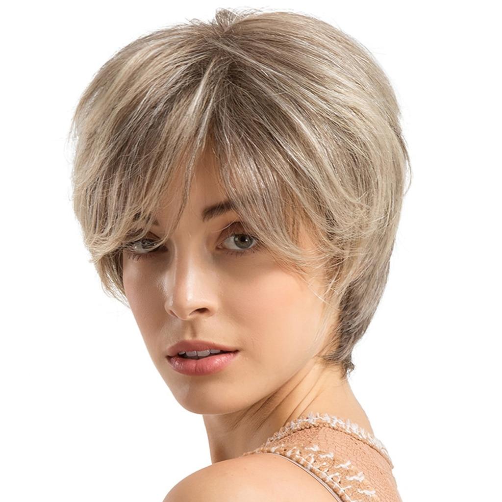خصلات الشعر المستعار الإنسان الموضة حريري تنفس شعر مستعار طبيعي للظهر/المرأة البيضاء