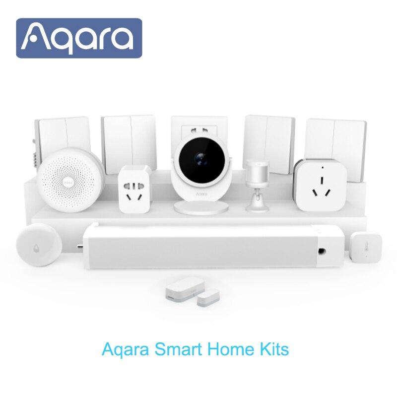 Xiaomi Centro aqara Smart Home kits Gateway3 interruptor de pared inalámbrico puerta ventana Sensor de cuerpo módulo de relé inalámbrico HomeKit