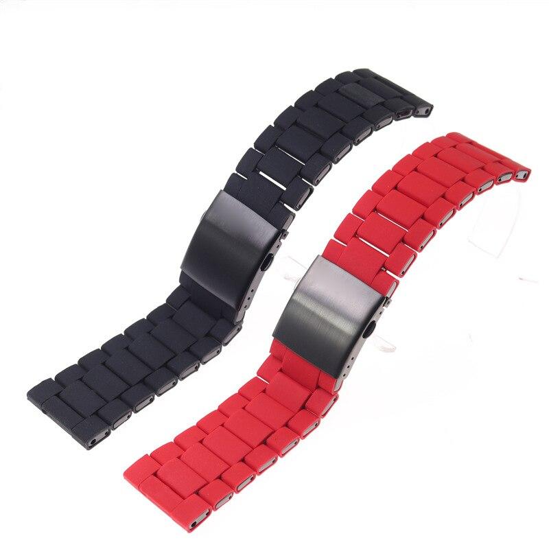 Accesorios de reloj para correa diésel de 28mm, brazalete de acero revestido de plástico para hombre DZ7396 DZ7370 DZ4289