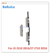 BaRuiLe 10pcs Power Button and Volume Side Button Keys for Samsung Galaxy J7 J710 (2016) / J5 J510 (2016) Power Volume Button