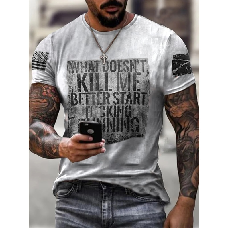 Popular fashion t shirt for men Oversize Casual sports outing shirts Men's summer round neck tshirt