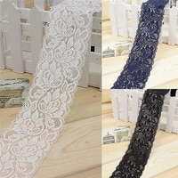 1 yard elastic lace fabric width 6 5cm diy garment accessories sewing swiss trim wedding lace material 3 colors