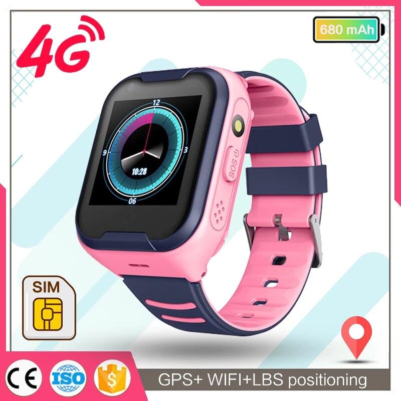 smart watch kids GPS 4g WIFI IP67 Waterproof Child Students Smartwatch Video Call Monitor Tracker Location Phone Watch A36E