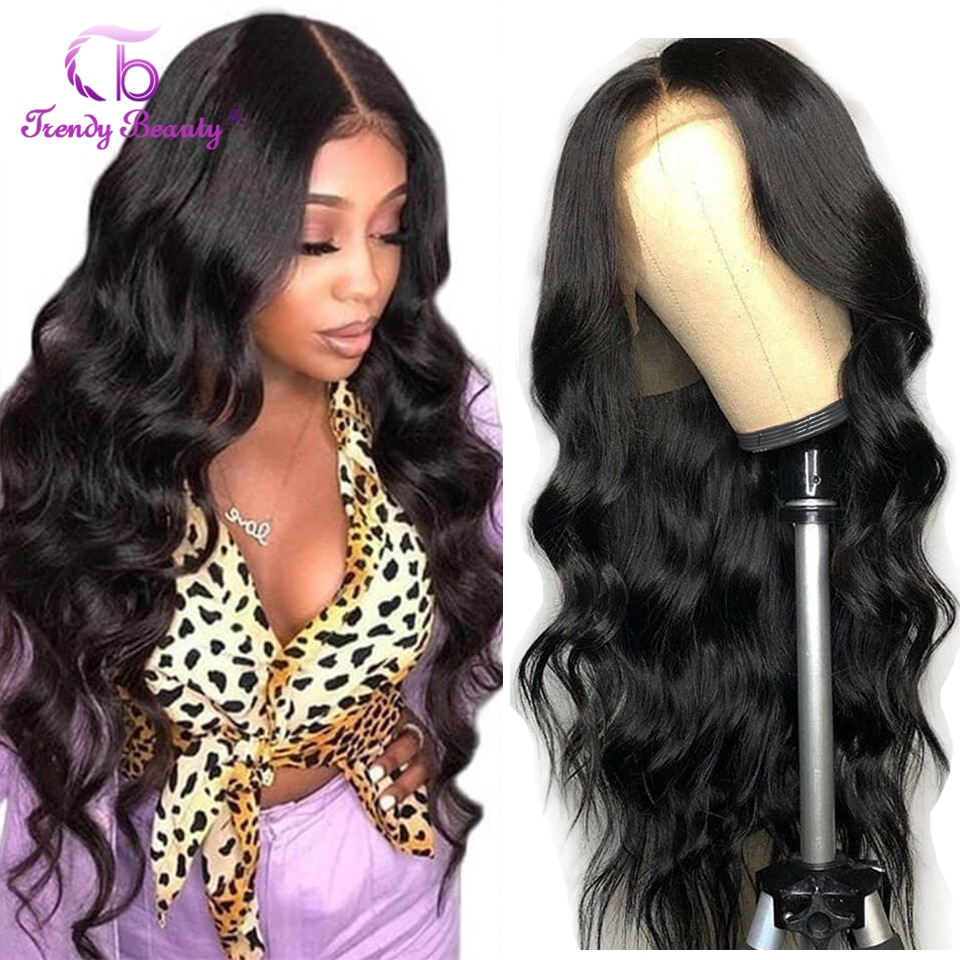 HD Lace Frontal Wig Indian Body Wave 13X4 Lace Front Wig For Women 180 Density Indian 4X4 Lace Closure Wig Human Hair Lace Wigs