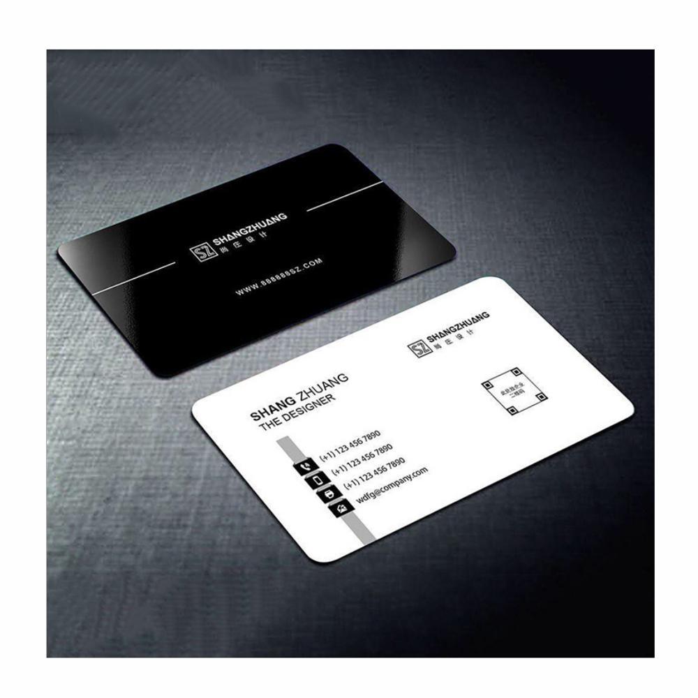 Бесплатный дизайн, индивидуальная печать круглых уголков визиток с вашей компанией, контактная информация с двусторонней печатью 500 шт./лот