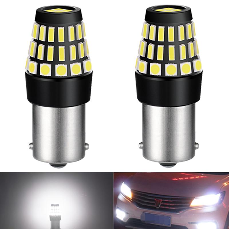 2x P21W BA15S 1156 día lightsr bombilla LED para Hyundai Getz Tucson Santa i40 Sonata acento i30 Solaris Creta ix25 DRL