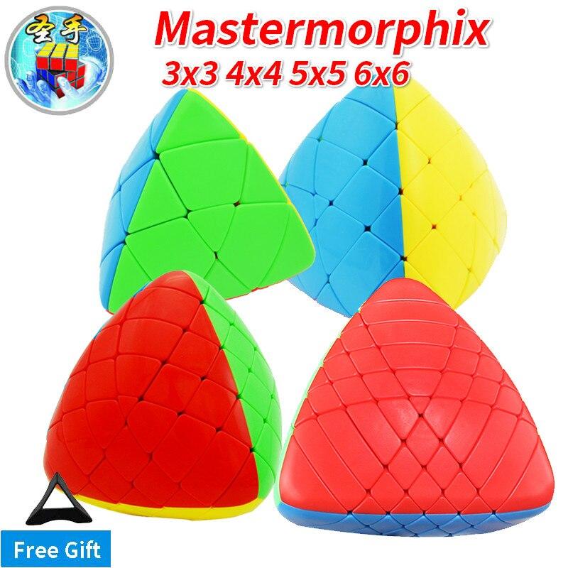 Sengso Shengshou 3x3x3 mastermorphix 3x3 4x4 5x5 6x6 megamorphix 4x4x4 Reis Knödel Stickerless Magie Cube Geschwindigkeit Cube