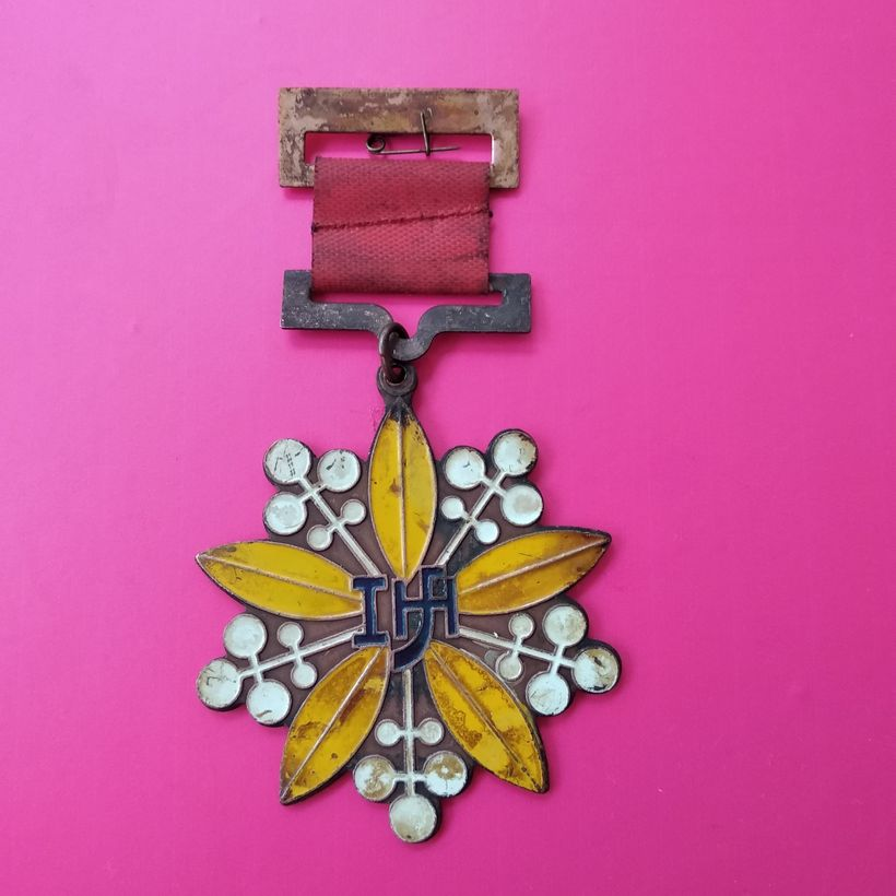 Vintage Jilin Province Badge public security fine example Medal public order militiaman Medal