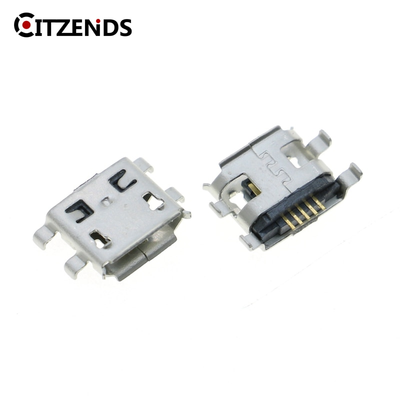 10 unids/lote Conector Micro USB 5pin heavy plate 0,8mm tipo B conector hembra para teléfono móvil Mini USB reparación de móvil tablet Tail plug
