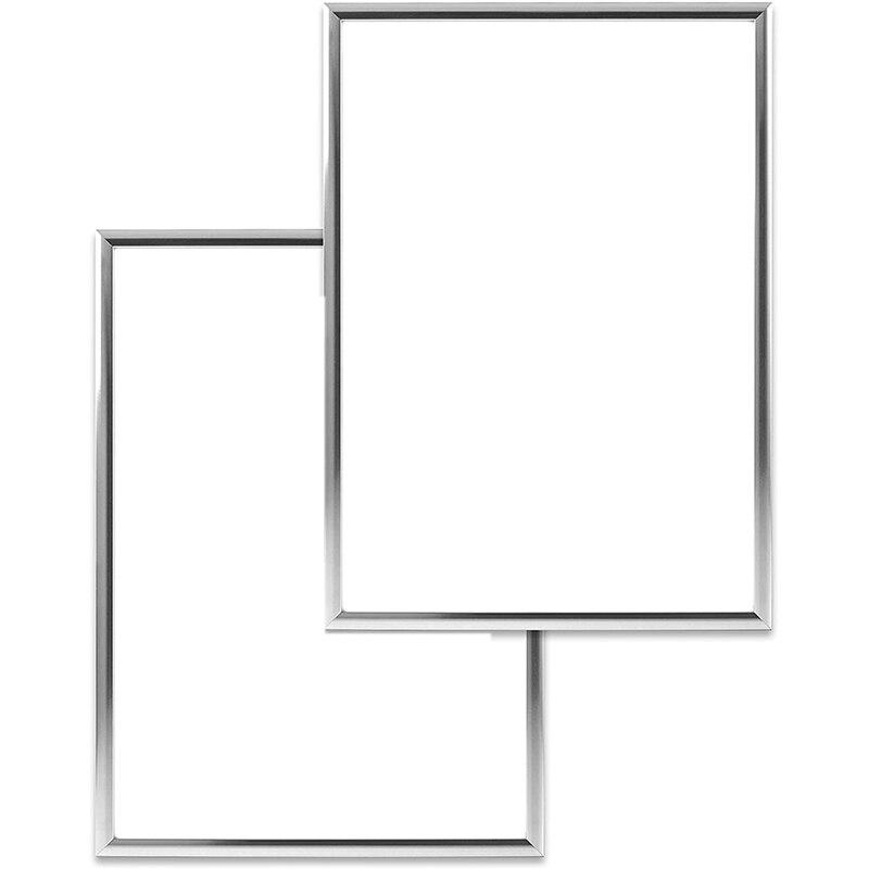 Molduras de Prata Molduras para Fotos de Família a4 com Plexi-vidro Molduras Inquebrável 2 21×30 cm