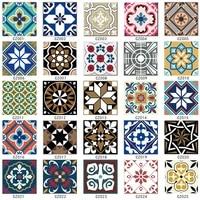 Autocollants muraux en vinyle pour sol de Style europeen  15 8 12 15cm  en diagonale  pour salle de bain  cuisine