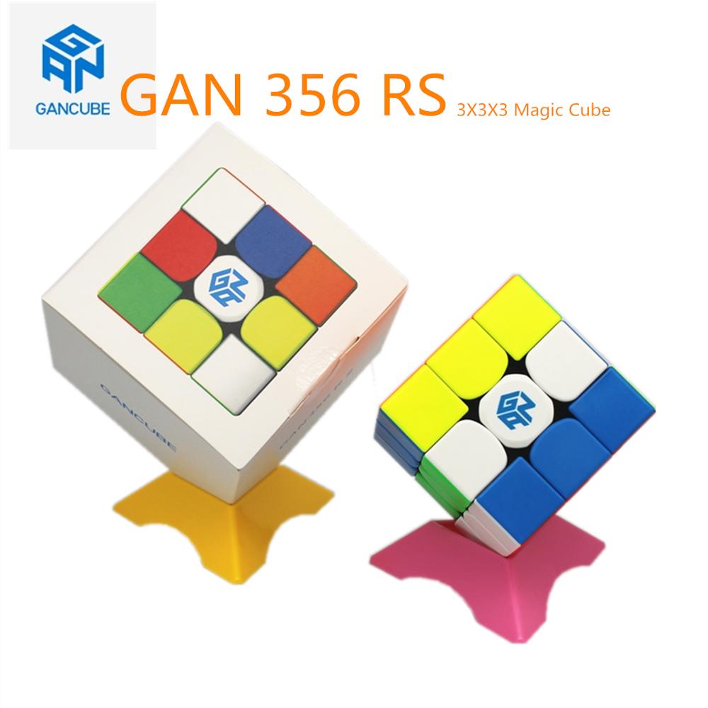 Gan cubo mágico gan 356 rs 3x3x3 cubo mágico stickerless gan 356 quebra-cabeça cubo mágico jogo 3x3x3 Puzzle cubo magico profissional cubo brinquedos educativos magia cubo neocube GAN 356 magic cube GAN 356 RS