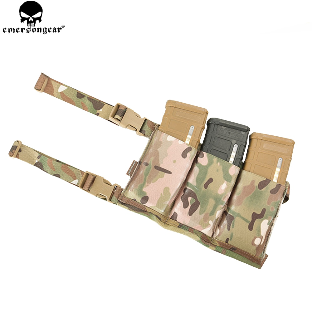 EMERSONGEAR Triplo Bolsa Mag Revista Bolsa para M4 M16 Airsoft Hunting Tactical High-speed Six Cintura Bag Bolsa