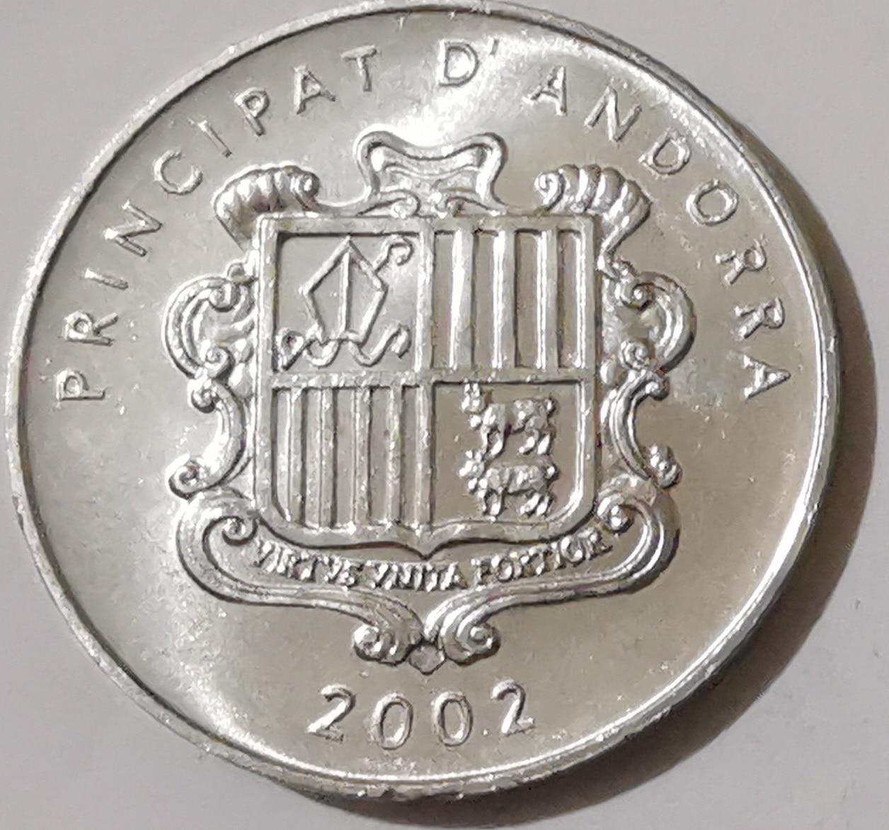 Andorra 2002 1 centavo moneda conmemorativa de 100% Real Original y genuino moneda colección monedas