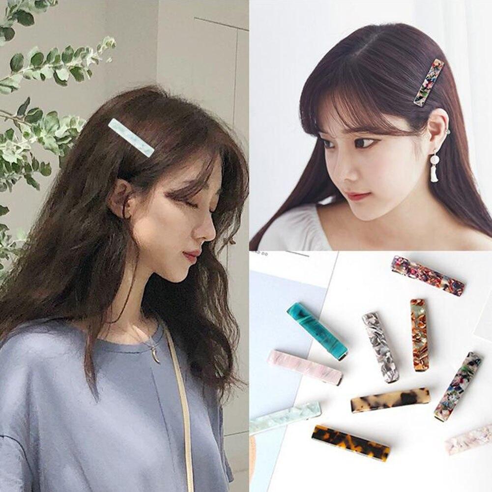 Barrette resina Shell horquillas Vintage Horquillas para el cabello accesorios para el cabello para mujeres Chic horquillas largas