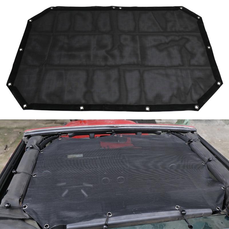 ODIFF SUV convertible black blackout mesh 2 door Jeep Wrangler roof blackout mesh