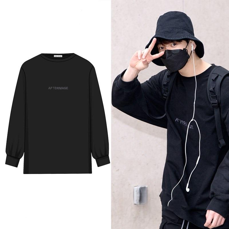 kpop Blackpink 2020 new black letter print Hoodies women korean hip hop Round neck pullovers Loose Sweatshirts female clothes