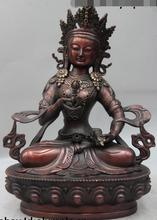 """12 """"buddyzm tybetański brąz miedź Vajradhara vajrasattwa rzeźba buddy statua"""