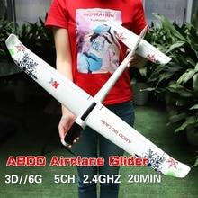 RC samolot pilot samolot 3D 6G System 2.4GHz 5CH szybowiec o stałym skrzydle 780mm rozpiętość skrzydeł puszczania samolotów zabawki dla dzieci świąteczny prezent