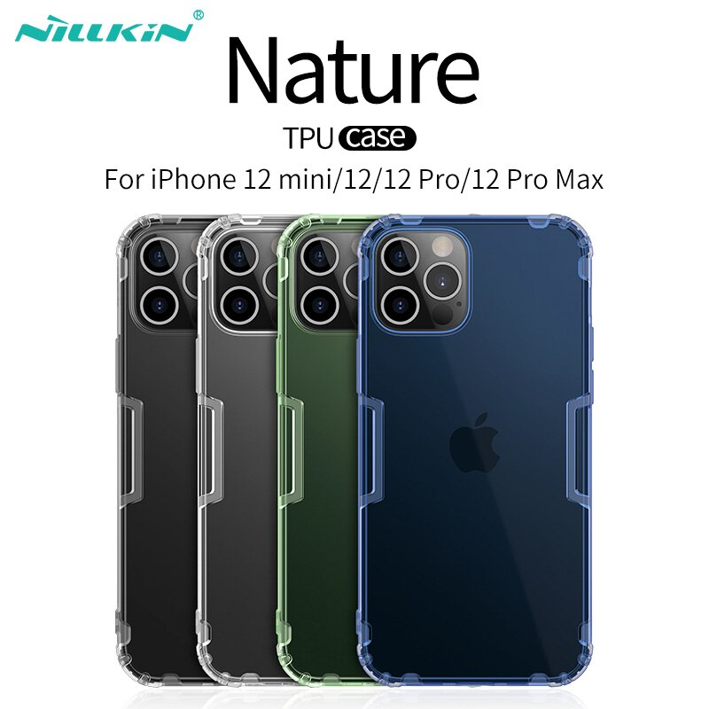 For iPhone 12 Pro Max Case Nillkin Transparent TPU For iPhone 12/12 Pro Case Soft Silicon Protective Cover For iPhone 12 mini