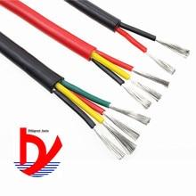 Câble en silicone souple 1.0mm1.5mm   Fil de fer, 2 core 3 core 4 core 5 core 6 core 8 core, 0.2mm 0.3mm 0.5mm 0.75mm, résistant à la chaleur 180 °