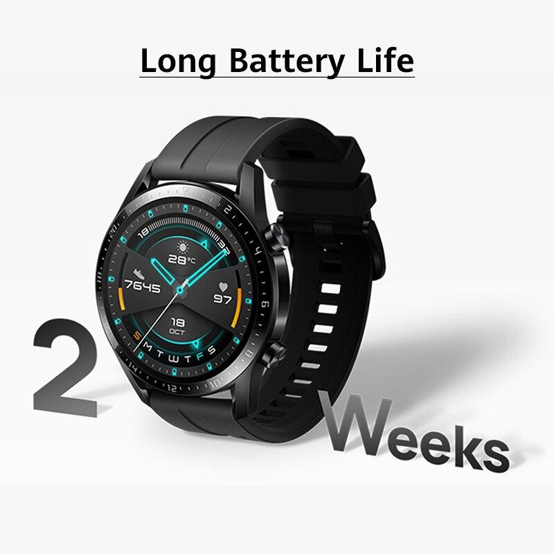In stock Global Version HUAWEI WATCH GT 2 GT2 Smart WATCH Blood Oxygen SmartWatch 14 Days Phone Call Heart Rate Tracker  GT 2