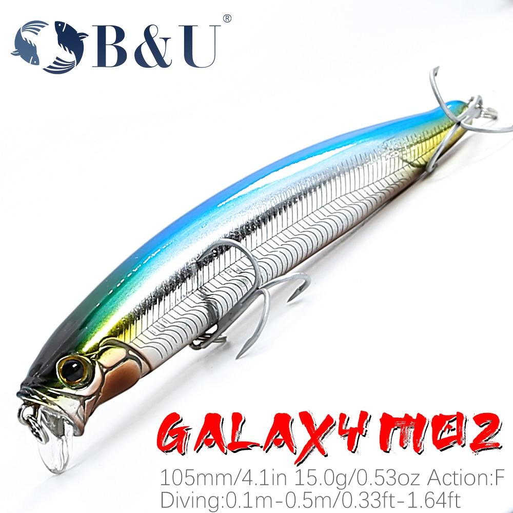 B & U, гольян 100F 15g модели-хиты продаж жесткая приманка для рыбалки Воблер для бас-щуки качественная профессиональная блесна Depth0.1-0,5 м