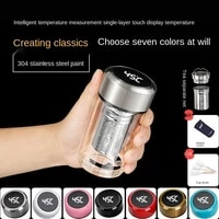 intelligent stainless steel thermos bottle cup temperature display glassflasks travel car soup coffee mug thermos water bottle