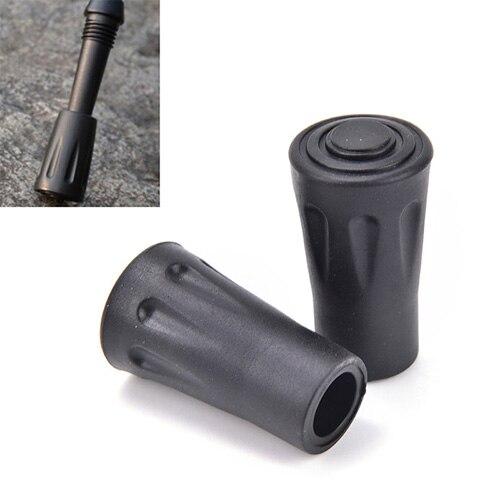 Bastón telescópico de fibra de carbono con punta de goma, accesorio nórdico...