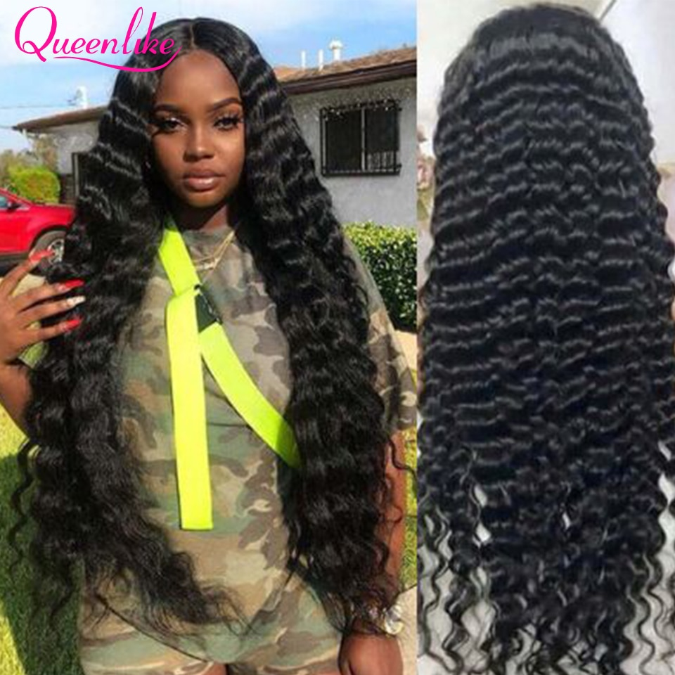 30 Inch Brazilian Loose Deep Wave Wig 13x6 Lace Front Human Hair Wigs For Black Women250 Density Remy 6x6 Curly Lace Closure Wig