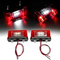 2pcs led number license plate light lamp for car trunk trailer lorry 12v 24v waterproof license plate light car accessories