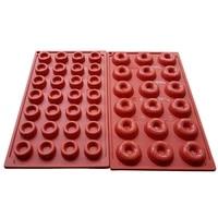 2pcsset silicone cake molds mini size donuts molds baking tools set dessert tools 18 cavity 28 cavity baking pans