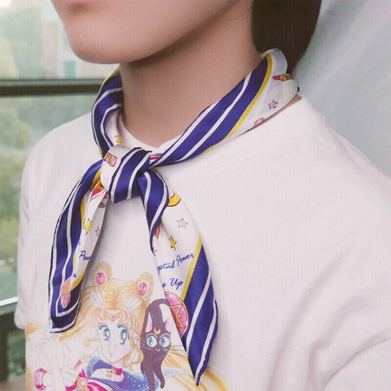 Anime Sailor Moon Cosplay Silk Scarves Halloween Party Prop Gamer Fans Collection Gift Drop Ship