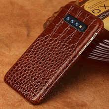 Натуральная кожа мобильный телефон чехол для Samsung Галактики S10 S10E S7 S8 S9 плюс A50 A70 A10 A8 A7 2018 Примечание 10 плюс 9 8 Роскошный чехол
