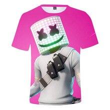 2020 Летняя мода DJ электронная музыкальная Зефир 3D футболка с коротким рукавом, футболки с длинными рукавами для мальчиков и девочек уличная От 4 до 14 лет