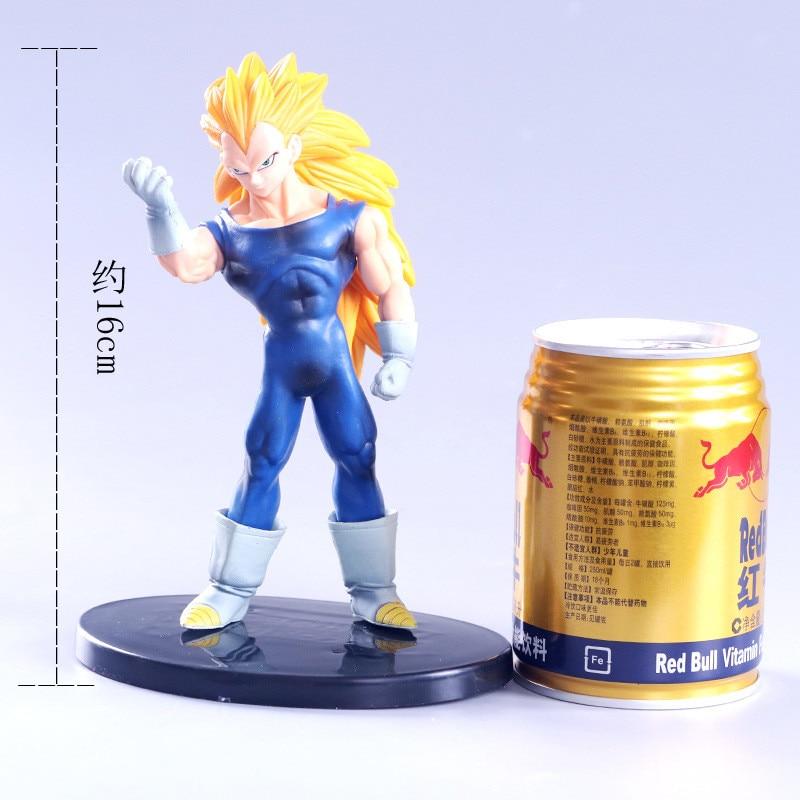 Anime Dragon Ball Z Super Saiyan 3 végéta or cheveux sang troncs enchantés Goku PVC figurine DBZ Collection modèle 16cm