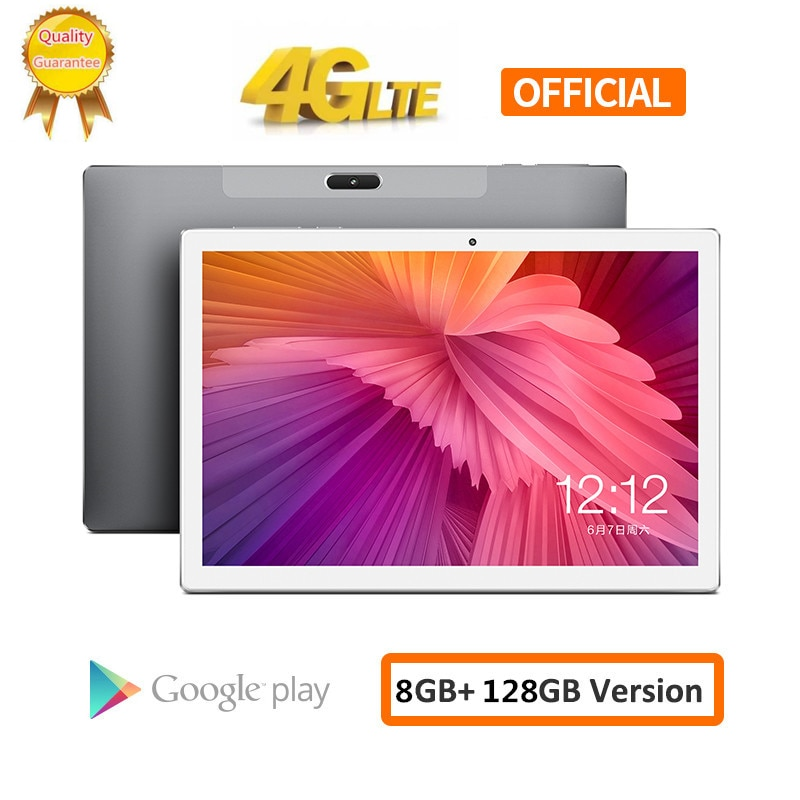 2020 Batería grande 8000mAH 128G 4G LTE FDD 10,1 pulgadas 2.5D tablet pc 10 Deca Core MTK6797 8GB RAM 128GB ROM 1920*1200 Android 8,0