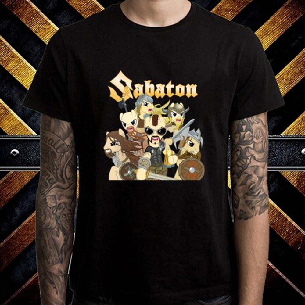 Sabaton Power Metal Band Logo Mens Black T-Shirt Size S to 3XL
