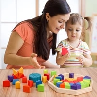 multifunction wooden rainbow triangle tangram puzzle stacking toy brain teaser creative montessori educational gift for kids