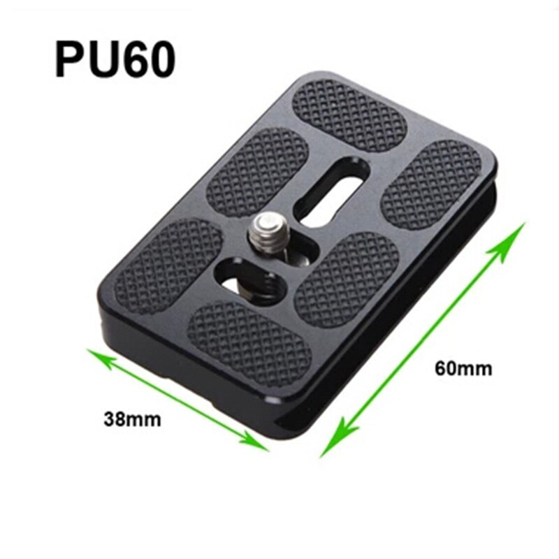 Foleto trípode para cámara, placa de liberación rápida PU60, Universal para Arca Swiss Benro B1 B2 B3 J1 J2