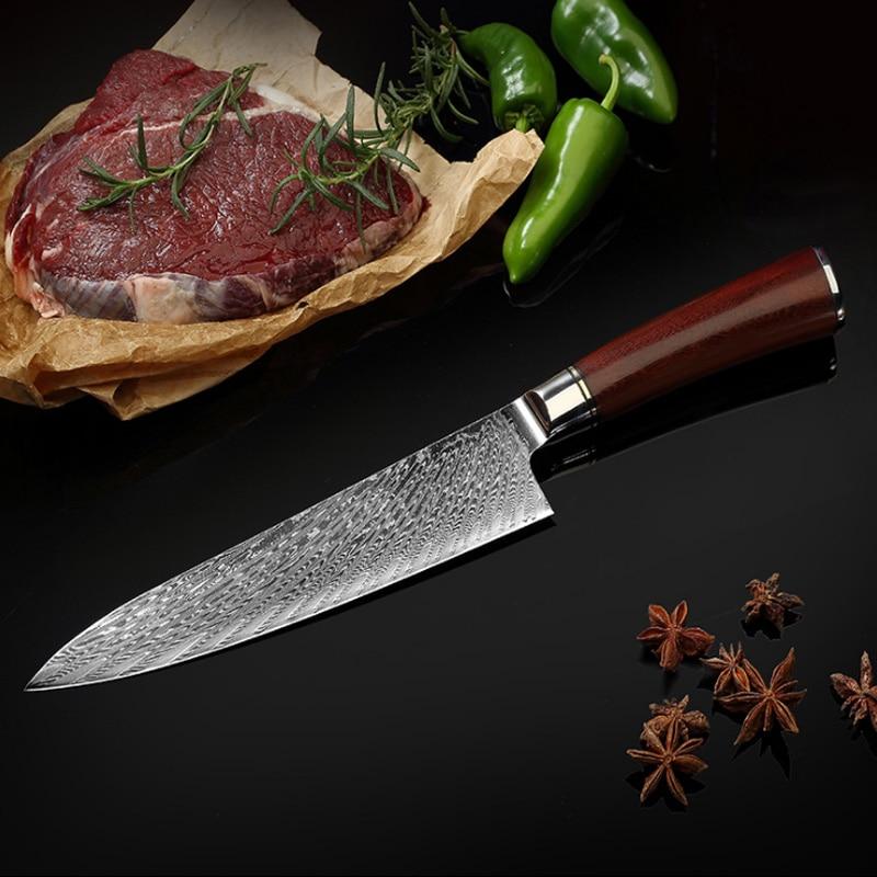 Juego de Cuchillo de cocina damascus de cocina profesional, cuchillos de cocina,...