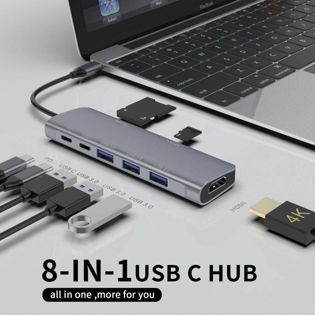 USB C HUB Type C إلى متعدد USB 3.0 HUB PD SD/TF بطاقة 4K محول قفص الاتهام لماك بوك برو هواوي ماتي 30 USB-C 3.0 الفاصل ميناء