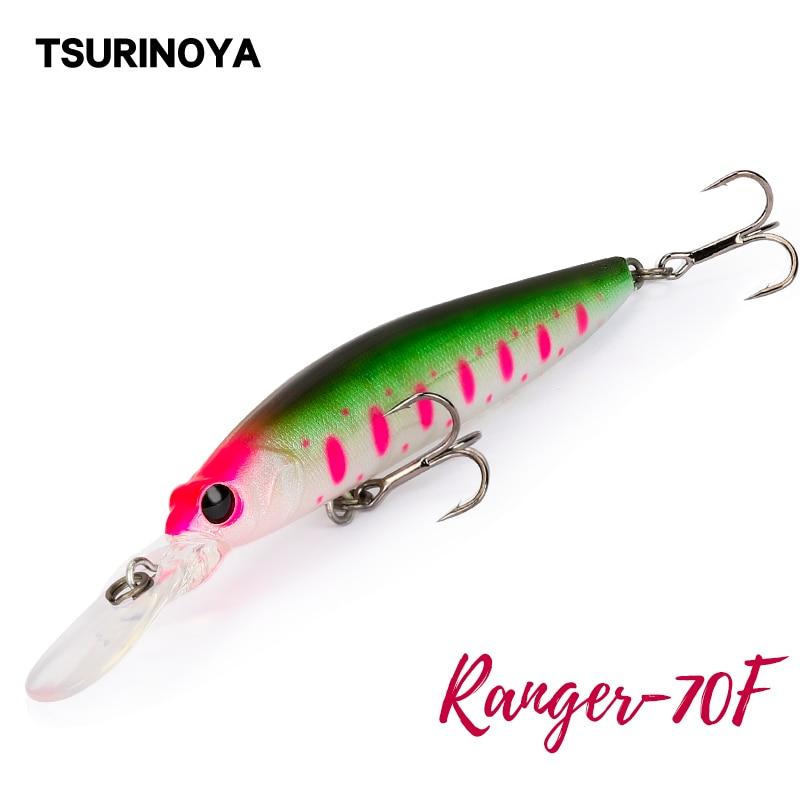TSURINOYA pececillo flotante DW68 70F señuelo de pesca 70mm 5,2g Ranger profesión señuelo duro Jerkbait Crankbaits Swimbait Wobblers cebo