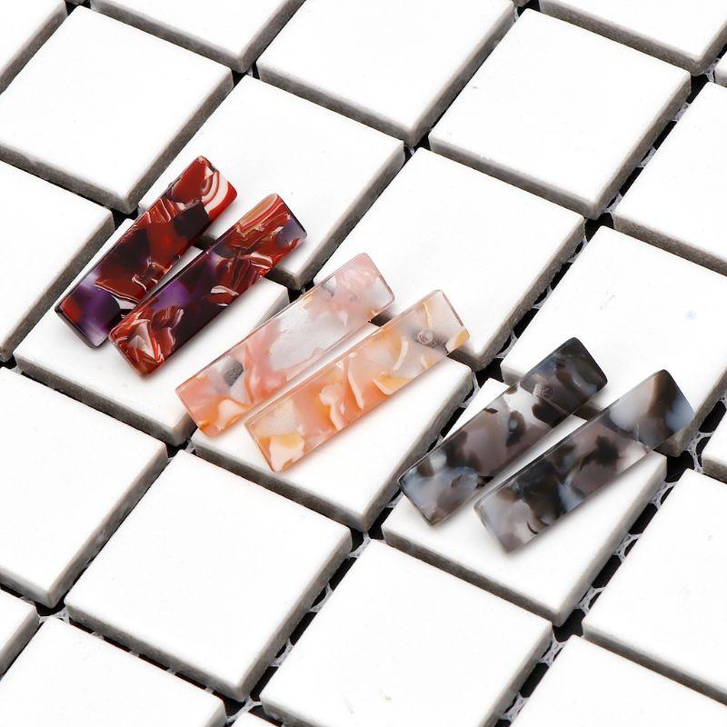 2018 Minimalist Acrylic Resin Square Earring Geometric Black White Pink Turtle Earrings Carey