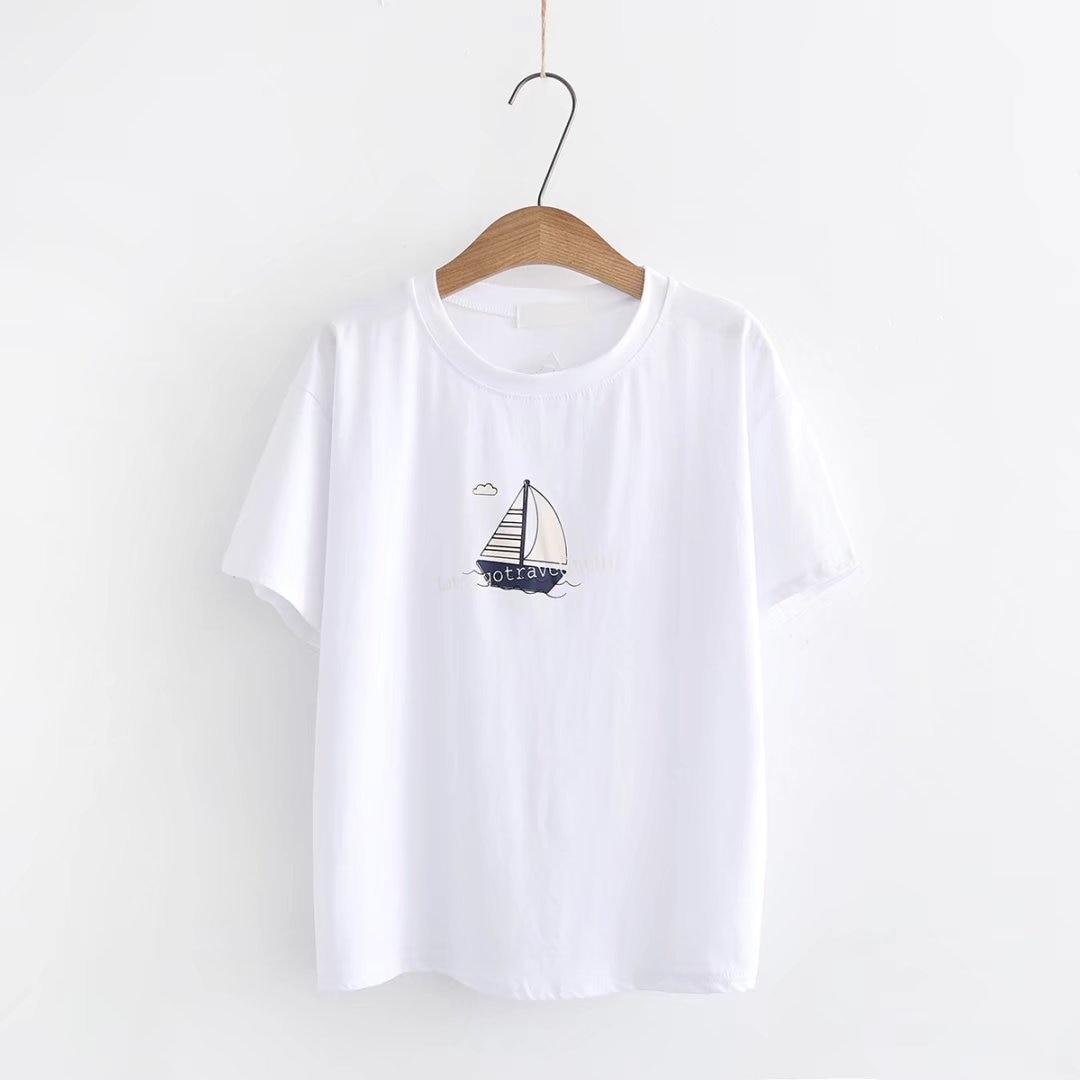 Camisetas de algodón con estampado de letras para mujer, camisetas informales de verano 2018, camisetas femeninas de manga corta