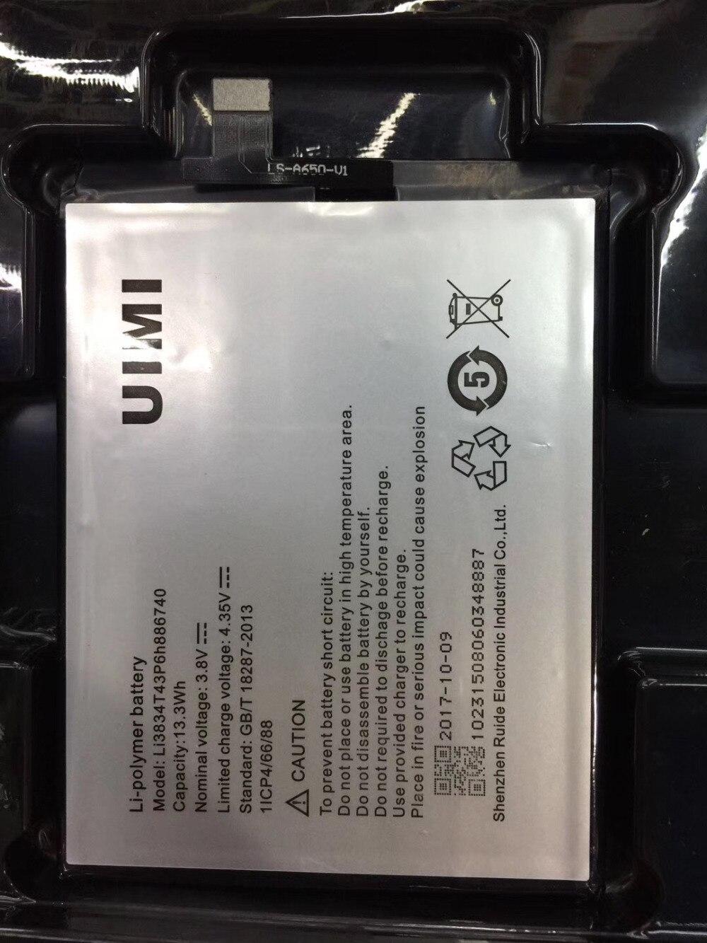 Batería Para Umi emax, acumulador de 3500mAh, Li3834T43P6h886740